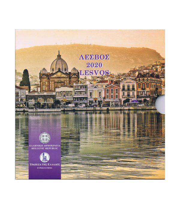 Euroset oficial de Grecia 2020 dedicada a Lesvos  - 1