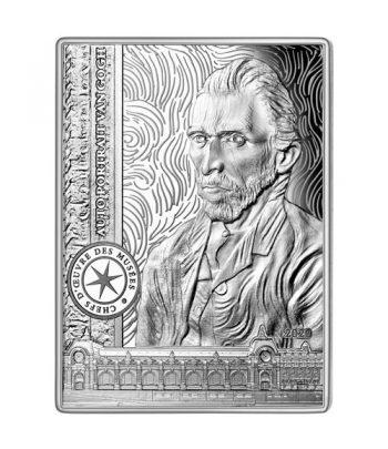 Moneda de plata de Francia año 2020 10 euros Van Gogh  - 1