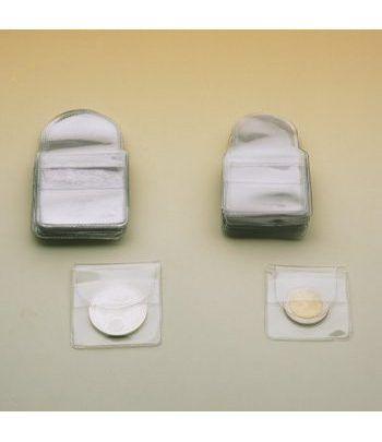 FILOBER Bolsitas para monedas 50x50 mm. 100 unidades. Estuche Monedas - 2
