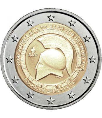 moneda 2 euros Grecia 2020 dedicada a la Batalla Termópilas.  - 1