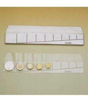FILOBER Tiras para monedas transparente 9 departamentos. Estuche Monedas - 2