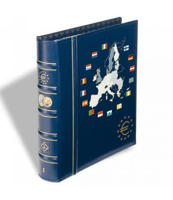 LEUCHTTURM VISTA Album Euro. 6 hojas con cajetin. Tomo I. Album Monedas Euro - 1