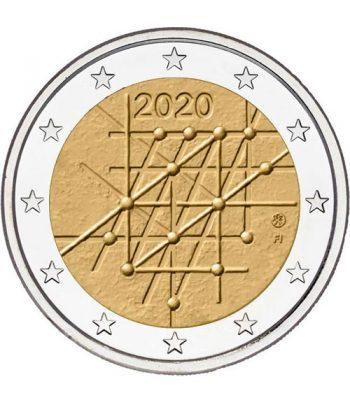 moneda conmemorativa 2 euros Finlandia 2020 Universidad de Turku  - 1