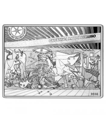 Moneda de plata de Francia año 2020 10 euros Guernica de Picasso  - 1