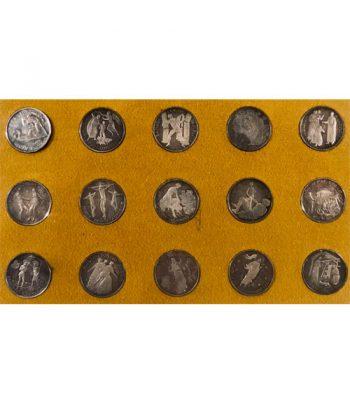 Colección de 15 Medallas de plata Sagrada Biblia  - 1