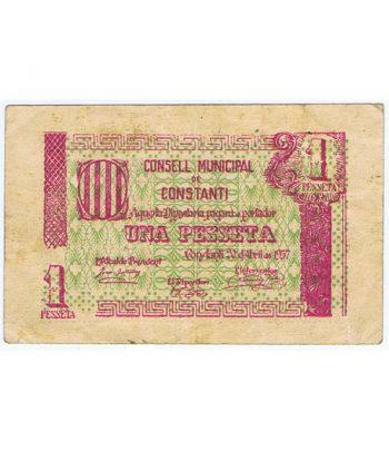 Billete 1 Pesseta Consell Municipal de Constantí 1937  - 1