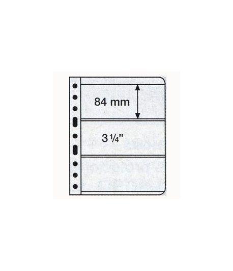 LEUCHTTURM VARIO 5 hojas transparentes con 3 departamentos Album billetes - 2