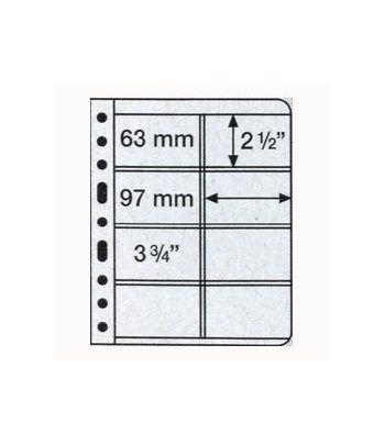 LEUCHTTURM VARIO 5 hojas transparentes con 8 departamentos Album billetes - 2