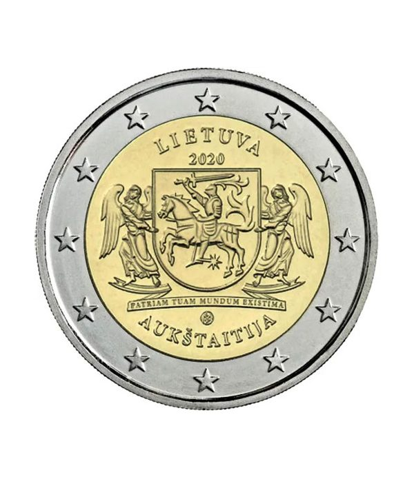 moneda conmemorativa 2 euros Lituania 2020 Región de Aukštaitija.  - 3