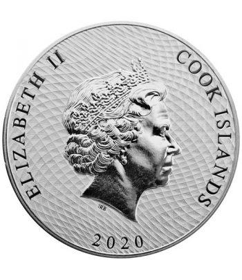 Islas Cook 1$ Onza de plata año 2020 Barco Bounty.  - 2