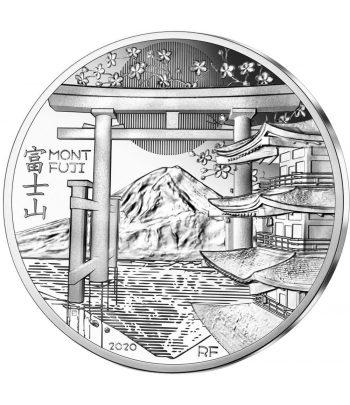 Moneda de plata de Francia año 2020 10 euros UNESCO Mont Fuji  - 1