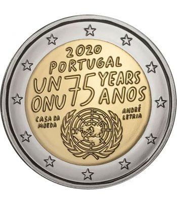moneda conmemorativa 2 euros Portugal 2020 75 años ONU  - 1