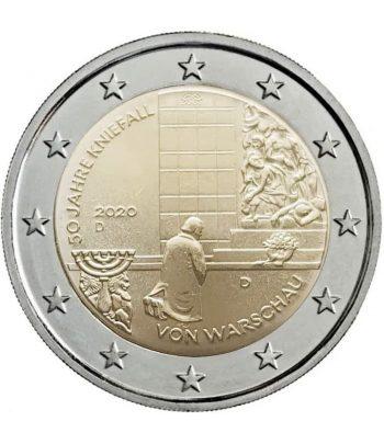 moneda conmemorativa 2 euros Alemania 2020 Varsovia. 5 monedas.  - 1