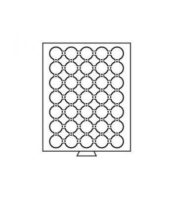 LEUCHTTURM Bandejas MB (236x303) 35 monedas CAPS 27-28 Bandeja Monedas - 2