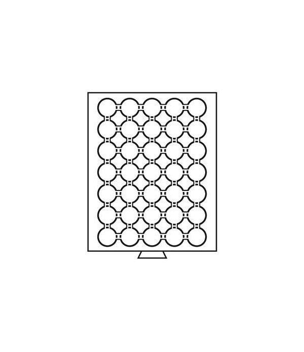 LEUCHTTURM Bandejas MB (236x303) 35 monedas CAPS 27-28 Bandeja Monedas - 1