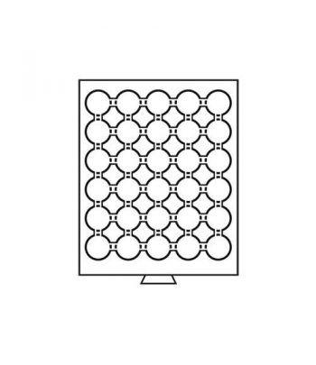 LEUCHTTURM Bandejas MB (236x303) 30 monedas CAPS 32-32.5 Bandeja Monedas - 1
