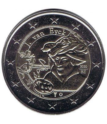 moneda 2 euros Belgica 2020 dedicada al pintor Jan van Eyck  - 1