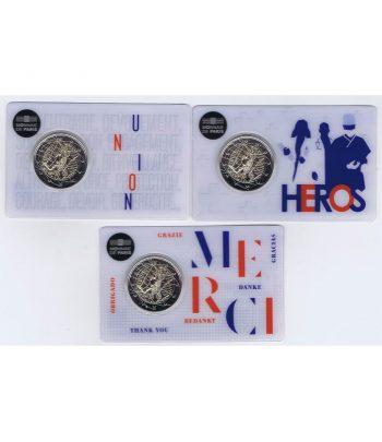 moneda 2 euros Francia 2020 dedicada a la Investigación Médica. 3 coincard.  - 2