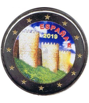 moneda conmemorativa 2 euros España 2019 Ávila. Color  - 1