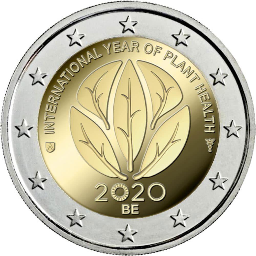 moneda 2 euros Belgica 2020 dedicada a la Sanidad Vegetal.  - 1