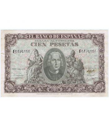 (1940/01/09) Billete 100 Pesetas serie F6590156. MBC.  - 7