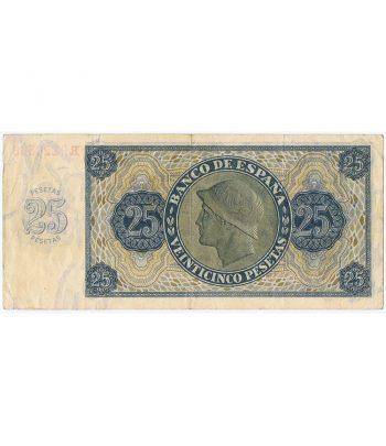 (1936/11/21) Billete Burgos 25 Pesetas serie R9220388. MBC.  - 6