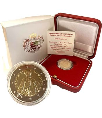 moneda 2 euros Monaco 2020 dedicada a Honoré III. Proof  - 1