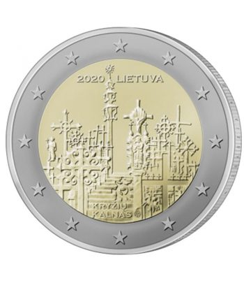 moneda 2 euros Lituania 2020 dedicada a la Colina de las Cruces  - 1