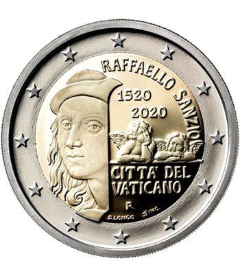 moneda de Vaticano 2 euros 2020 conmemorativa Raffaello Sanzio.  - 1