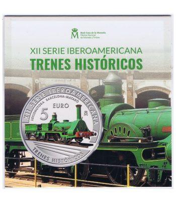 Moneda de España 2020 5 euros Plata XII Iberoamericana Tren Mataró  - 3