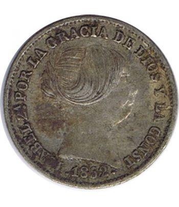 Moneda de España Isabel II 1 Real 1852 Barcelona. Plata.  - 1