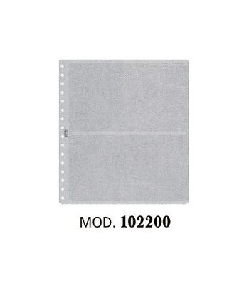 PARDO Hoja transparente 2 departamentos (10 hojas) Album billetes - 2