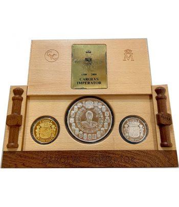 Monedas de España V Centenario Carlos V año 2000. 3 monedas  - 1