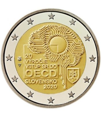 moneda de Eslovaquia 2 euros 2020 dedicada a la adhesión a OCDE  - 2