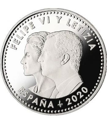 Euroset FNMT moneda 30 Euros 2020 Covid 19. Color  - 4