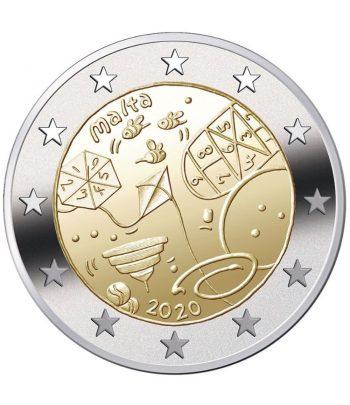 moneda 2 euros Malta 2020 dedicada a los Juegos Infantiles  - 1