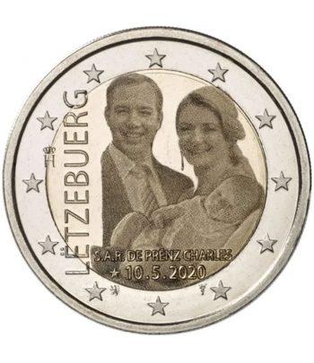 moneda 2 euros Luxemburgo 2020 dedicada al Principe Charles. Holograma  - 1