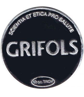 Medalla de plata Media onza Grifols Ejercicio 2011.  - 1