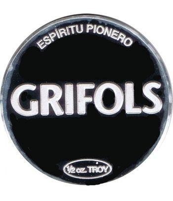 Medalla de plata Media onza Grifols Ejercicio 2012.  - 1