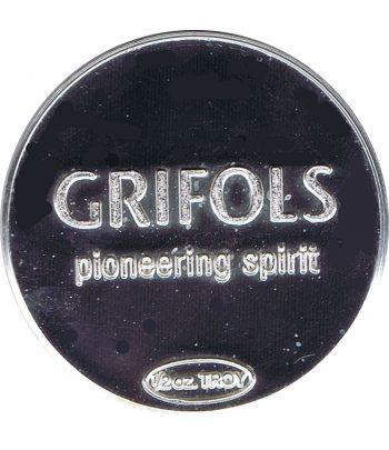 Medalla de plata Media onza Grifols Ejercicio 2013.  - 1