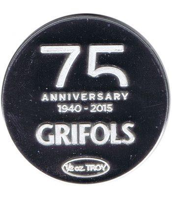 Medalla de plata Media onza Grifols Ejercicio 2014.  - 1