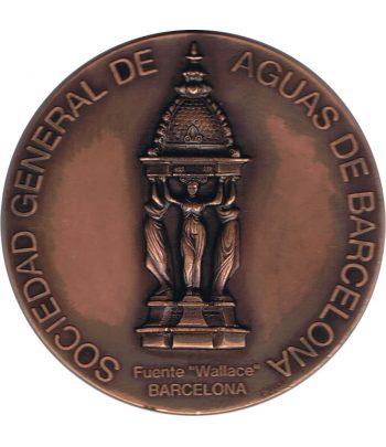 Medalla de bronce AGBAR 1996 Fuente Wallace Barcelona.  - 1