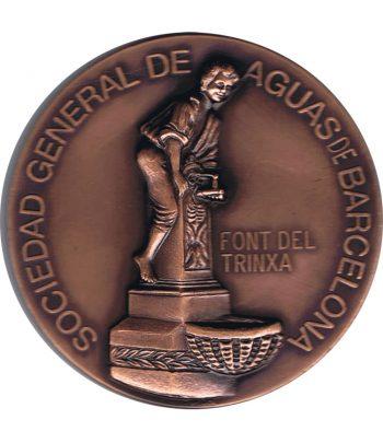 Medalla de bronce AGBAR 1997 Font del Trinxa Barcelona.  - 1