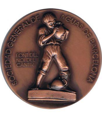 Medalla de bronce AGBAR Font del Noi del Cantir Barcelona.  - 1