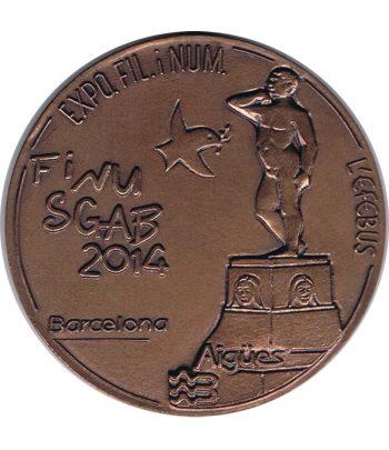 Medalla de bronce Exposición Finusgab Barcelona 2014.  - 1