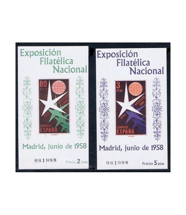 1222/23 Exposición Filatélica Nacional mismo número.  - 2