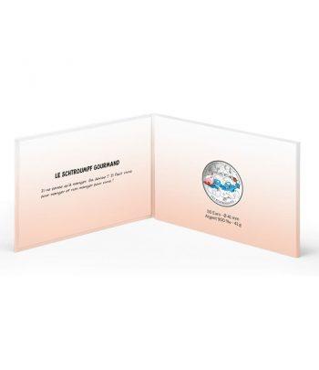 Moneda de plata de Francia año 2020 50 euros Pitufo Pastelero y Goloso.  - 3