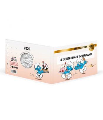 Moneda de plata de Francia año 2020 50 euros Pitufo Pastelero y Goloso.  - 4