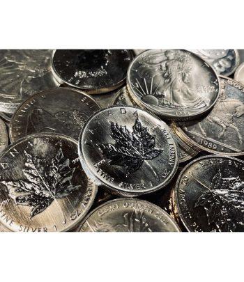 Lote de 10 monedas de 1 onza de plata para inversión.  - 1