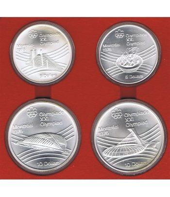 Monedas de plata de Canada Olimpiada Montreal 1976. 4 monedas  - 1